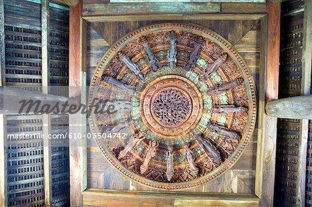 Thailand, Pattaya, the sanctuary of truth, rose window