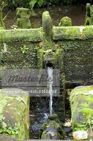 Indonesia, Bali, temple of Pura Luhur Batukaru, fountain