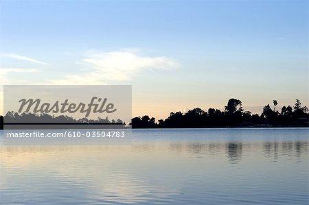 Indonesia, Bali, lake Bratan, sunshine