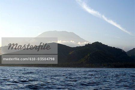 Vue sur le mont Agung Bali, en Indonésie,