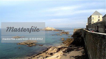 France, Bretagne, Saint Malo, rempart