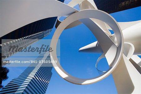 Bâtiment et statue, Downtown, Los Angeles, Californie, États-Unis d'Amérique, Amérique du Nord