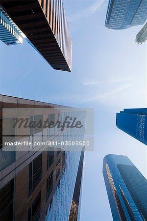 Ciel et les bâtiments, Downtown, Los Angeles, Californie, États-Unis d'Amérique, Amérique du Nord