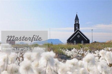Zionskirche, Ilulissat, Ilulissat Icefjord, Disko-Bucht, Qaasuitsup, Grönland