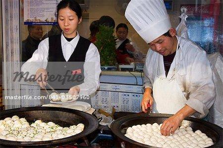 Boulette cook, Shanghai, Chine, Asie