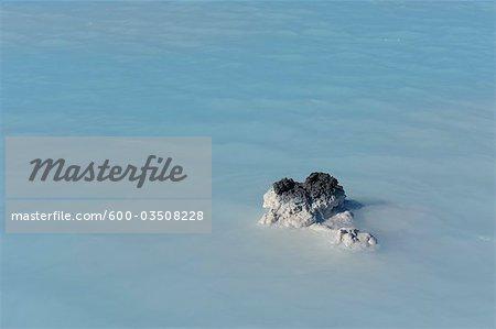 Volcanic Rocks in Blue Lagoon Geothermal Spa, Grindavik, Rekjanes Peninsula, Iceland