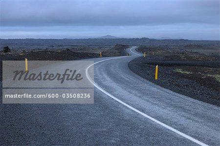 Leeren Sie Road, Grindavik, Rekjanes Halbinsel, Island