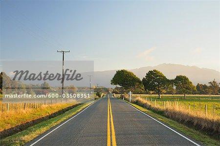 Road, near Pohara, Tasman, South Island, New Zealand