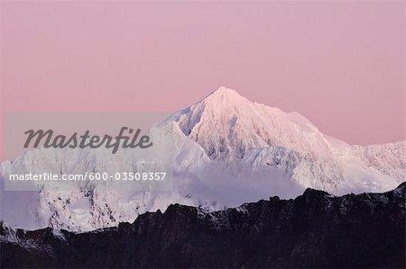 Aoraki/Mount Cook, le Parc National Aoraki/Mount Cook, South Island, Nouvelle-Zélande