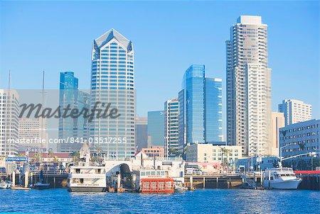 City skyline et le port de San Diego, Californie, États-Unis d'Amérique, Amérique du Nord
