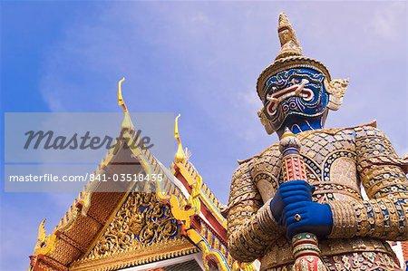 Temple du Bouddha Émeraude (Wat Phra Kaew), Grand Palais, Bangkok, Thaïlande, Asie du sud-est, Asie