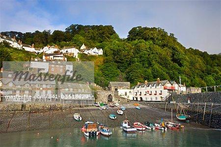 Clovelly village et port, Devon, Angleterre, Royaume-Uni, Europe