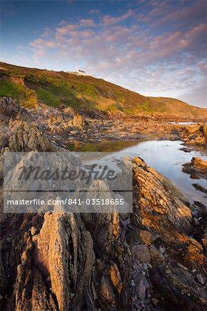 Coastal rock formations at Wembury Bay in Devon, England, United Kingdom, Europe
