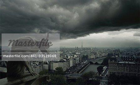 Gargoyle, Notre Dame Cathedral, Paris, France, Europe