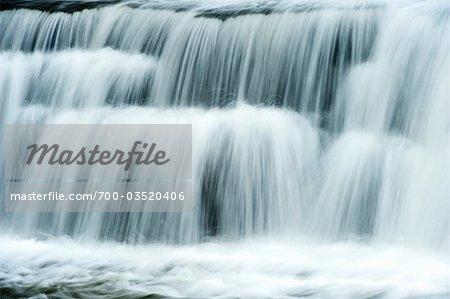 Nahaufnahme der Wasserfall, Aysgarth Falls, Yorkshire, England