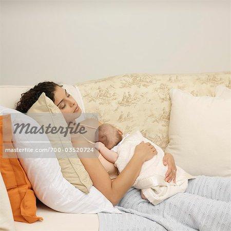 Mutter und Baby ruhelosigkeit