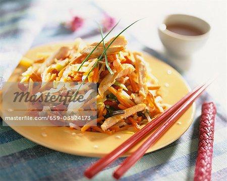 Huhn mit Gemüse und Reis