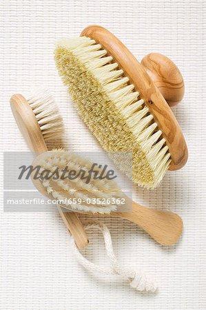 Three different brushes