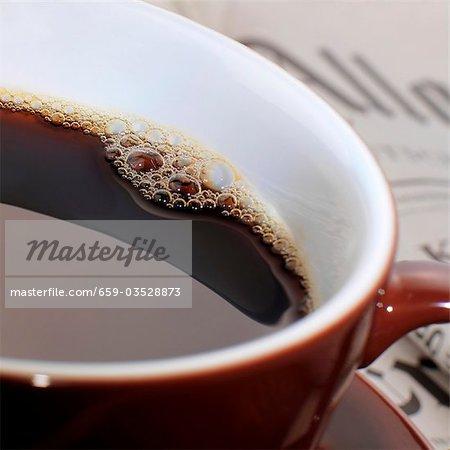 Tasse d'espresso (gros plan)