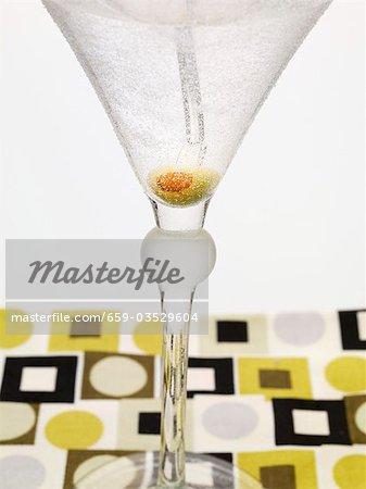 Martini avec olive