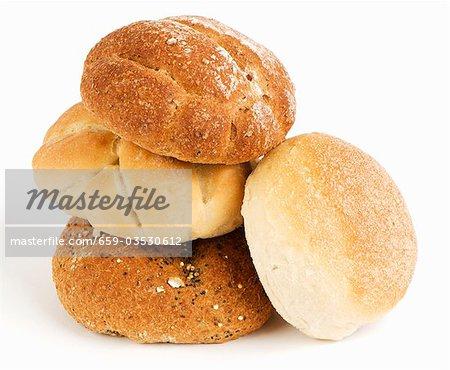 Quatre différents pains