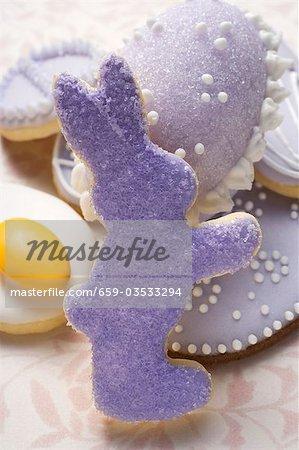 Assortierte Ostern Kekse und Zucker Ei