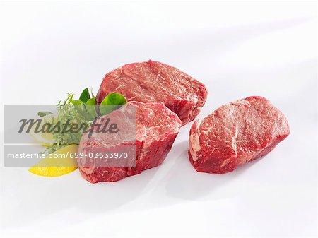 Rohe Rindfleisch-Filet-steaks