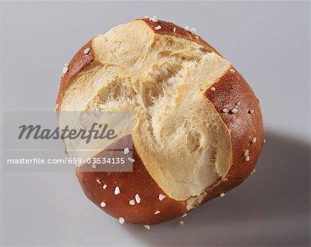 A pretzel roll