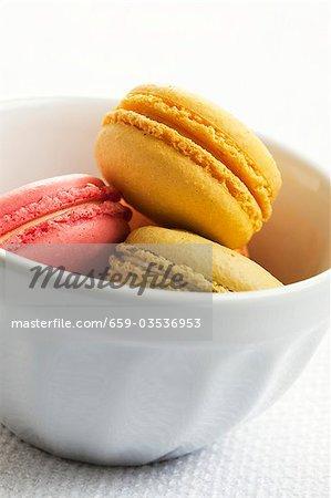 Verschiedene Farbige Macarons Kleine Franzosische Kuchen In