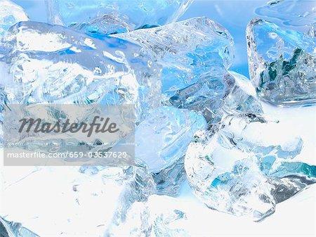 Ice cubes, full-frame