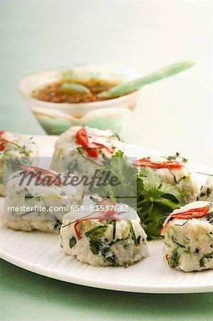 Croquettes de poisson à la coriandre fraîche (Thaïlande)