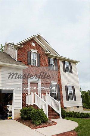 Extérieur de la maison, Winston-Salem, Forsyth County, Caroline du Nord, Etats-Unis