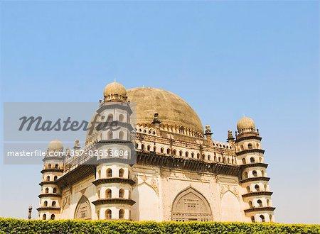 Facade of a mausoleum, Gol Gumbaz, Bijapur, Karnataka, India