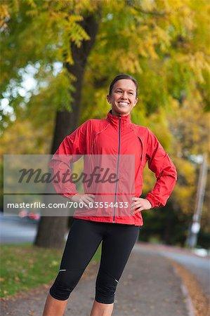 Portrait de Runner, Green Lake Park, Seattle, Washington, USA