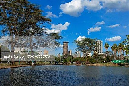 Nairobi Skyline from Uhuru Park, Nairobi, Kenya