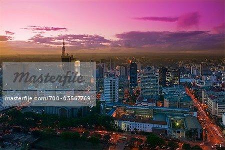 City Skyline at Dusk, Nairobi, Kenya