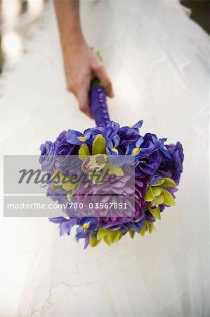 Gros plan du Bouquet de la mariée