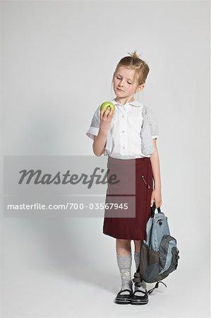 Portrait d'écolière