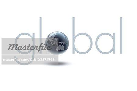 Globe (Asia, Australia) in Typo global