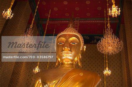 Or Bouddha au Wat Kalayanamitr, Thon Buri, Bangkok, Thaïlande