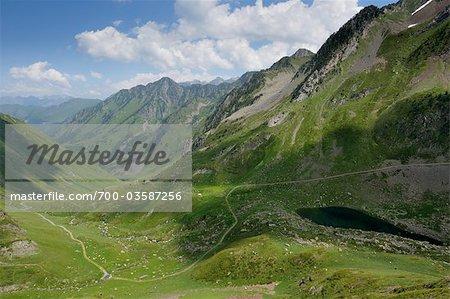 Berge und Tal, Hautes-Pyr n es, Frankreich
