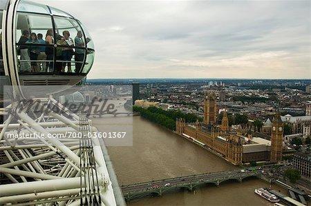 London Eye Overlooking London, England