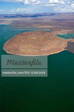 Nabuyatom-Krater, Lake Turkana, Kenia, Afrika