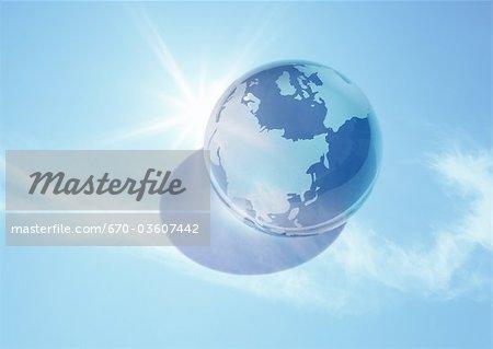 Earth and blue sky