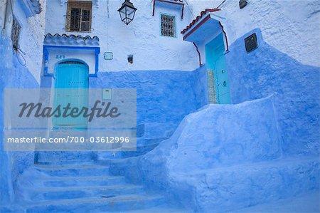 Maisons, médina de Chefchaouen, Chefchaouen, Maroc