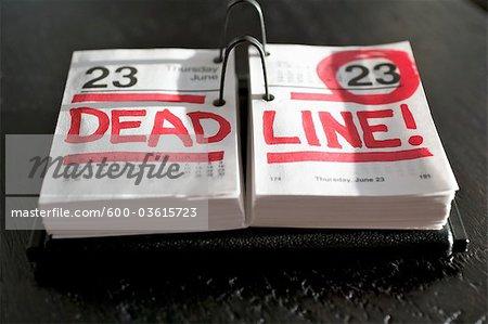 Calendrier date limite