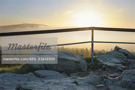 Brocken Mountain View From Achtermann Summit, Harz National Park, Lower Saxony, Germany