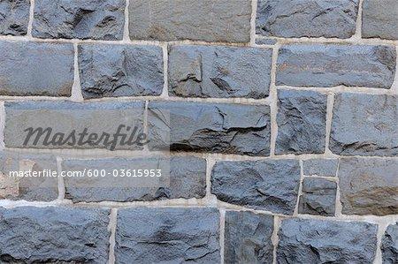 Stone Wall, Clausthal-Zellerfeld, Goslar, Harz, Lower Saxony, Germany