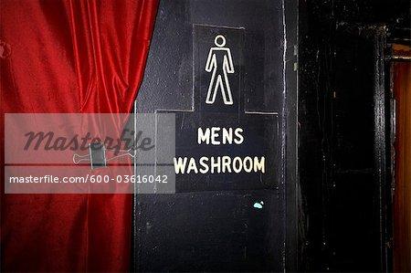 Signe de toilette pour homme