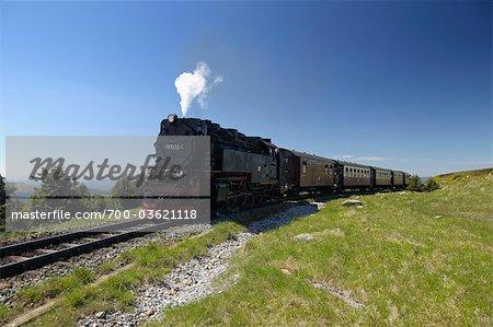 Brocken Railway, Brocken, le Parc National du Harz, Basse-Saxe, Allemagne